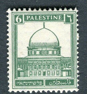 PALESTINE;  1927-45 early definitive issue fine Mint hinged 6m. value