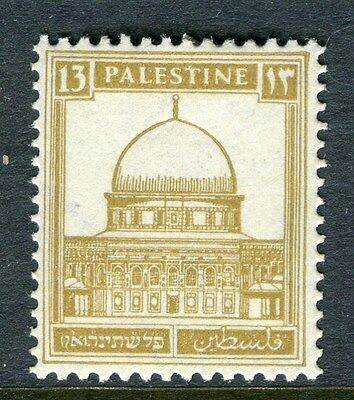 PALESTINE;  1927-45 early definitive issue fine Mint hinged 13m. value