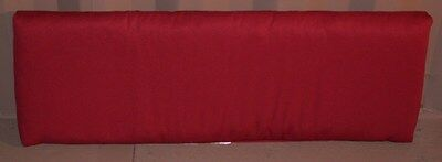 (1) Outdoor Patio Bench Cushion ~ Chili Red Textured ~ 15.5 x 45.5 x 2. **NEW**