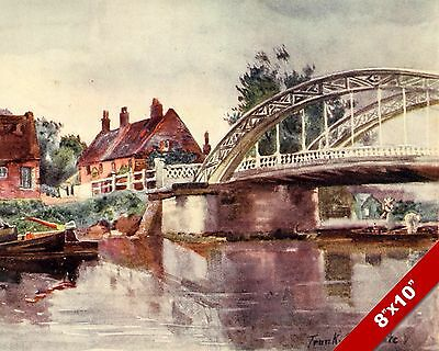 St Olaves Norfolk England English Landscape Art Painting Real Canvas Print
