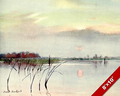 Heigham Sounds Norfolk England English Landscape Art Painting Real Canvas Print