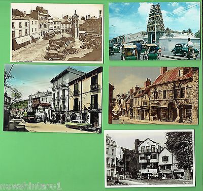 #D272. #4.  Five  Automobile  Related Theme   Postcards