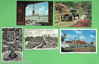 #d272. #5.  Five  Automobile  Related Theme   Postcards