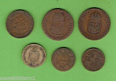 #d272.  Seven Old  Coins From Austria