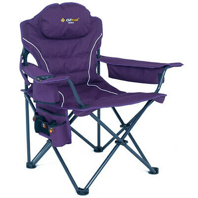OZTRAIL MODENA PURPLE CHAIR (FCE-MOD-D) Folding Camping Picnic Arm Chair