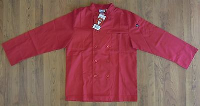 Chef Works Nantes Unisex Red Long Sleeved Chef's Coat-New with Tags