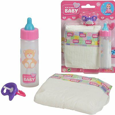 Bottle Diapers & Pacifiers Accessories for Doll Role play NIP