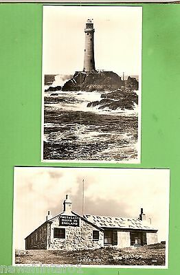#j. Two  Land's End   Postcards - Lighthouse & First / Last House In England