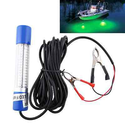 12V Green Night LED Underwater Submersible Fishing Lure Lamp Light Clip-on NEW