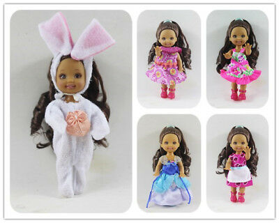 5 SET Cute dress Outfit Clothes  For Barbie's Sister Little Kelly Doll NEW