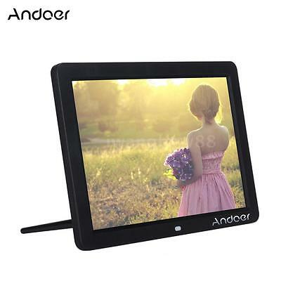 "Andoer 12"" HD LED Foto Cornici Digitali Clock MP3 MP4 Movie Player + Telecomando"