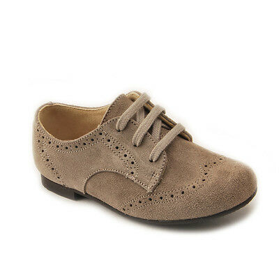 Start-rite Charles Cinder Grey Suede Lace-up Classic Shoes F fitting