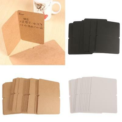 100pcs Vintage Kraft Folded Cards Blanks Gifts Greeting Card Word Cards