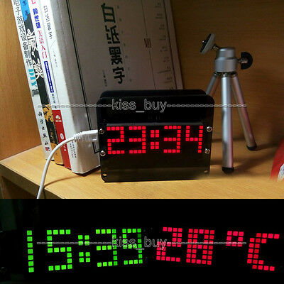51 SCM electronic DS3231 clock digital watch LED time Alarm clock thermometer