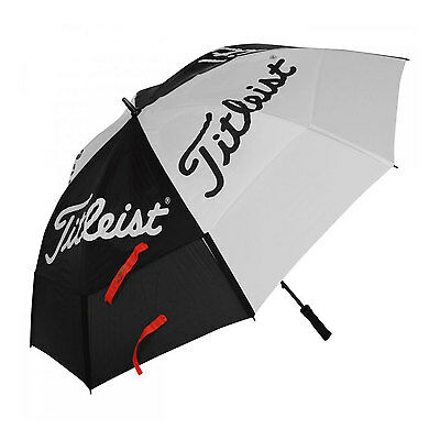"Titleist Golf Umbrella 68"" Black White Dual Double Canopy Gustbuster NEW"