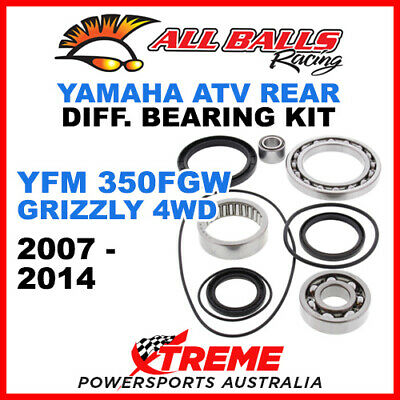25-2033 Yamaha YFM 350FGW Grizzly 4WD 07-14 ATV Rear Differential Bearing Kit