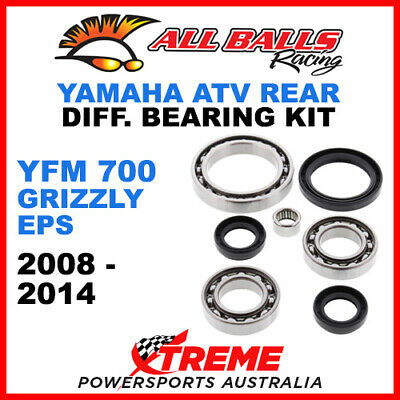 25-2074 Yamaha YFM700 Grizzly EPS 08-14 ATV Rear Differential Bearing & Seal Kit