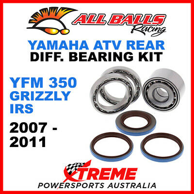25-2098 Yamaha YFM 350 Grizzly IRS 2007 ATV Rear Differential Bearing Kit