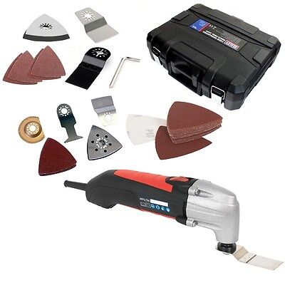 Sealey 180W Multi Function Detail Sander Cutter Scraping Tool + 33Pc Accessories