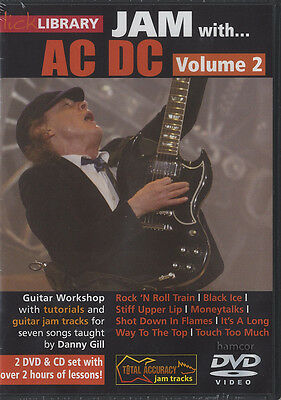 Jam with AC/DC Volume 2 Lick Library Guitar DVD & CD Set Angus Young Danny Gill