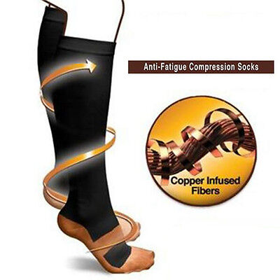 Fashion Anti-Fatigue Miracle Compression Socks Copper Soft Unisex Magical Chic