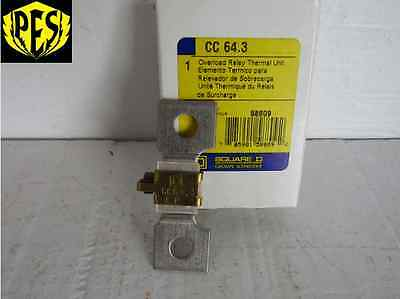 New Lot Of 5 Square D Cc 64.3 Overload Relay Thermal Unit