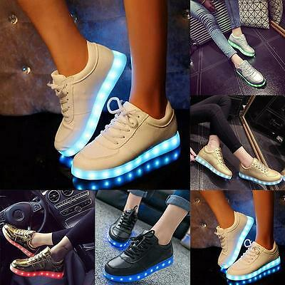Women Shoes Simulation Sole Led  Neon Basket With Lights Up Led Luminous Shoes