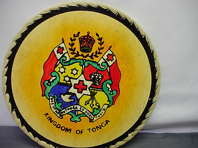 Kingdom Of Tonga Wood Art Wall Plaque Features Tonga's National Seal!