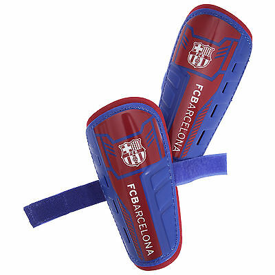 FC Barcelona Childrens/Kids Official Padded Football Shin Guards