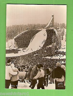 #h.  1954  Oslo  International  Ski Jump  Postcard