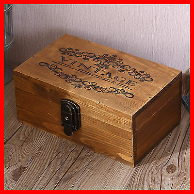 French Provincial Vintage Storage Jewellery Timber Wooden Decorative Box A12