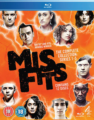 Misfits - Series 1-5 - Blu-ray - New