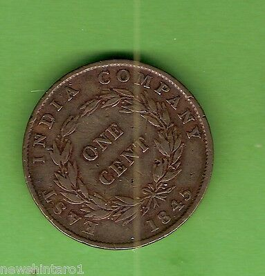 #d272.  1845  East  India Company  Copper  1  Cent  Coin