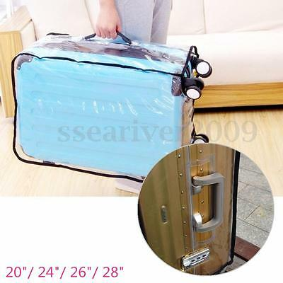 """20-28"""" Waterproof Dustproof Transparent Protective Luggage Suitcase Cover Case"""
