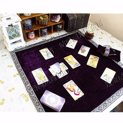 Altar Tarot Tablecloth Divination Cards Square Wicca Tapestry Table Cloth Decor