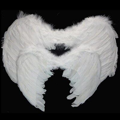 Adult Kids Feather Angel Wings Fancy Dress Fairy Costume Party Hen Night Party
