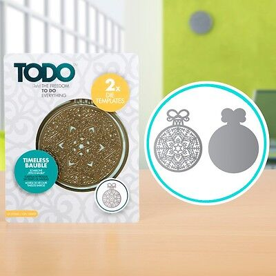 TODO - Timeless Bauble Die Template Set