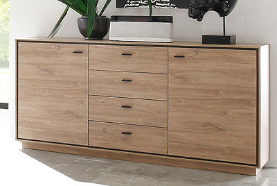 sideboard salinas wohnzimmerschrank anrichte eiche. Black Bedroom Furniture Sets. Home Design Ideas
