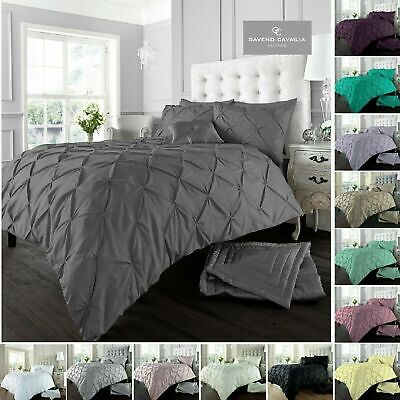 Alford Pintuck Luxurious Duvet Covers Quilt Covers and Bedding Sets All Sizes