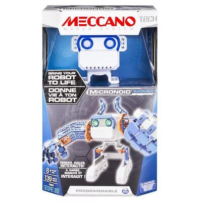 MECCANO Tech Micronoid Blue Basher Interactive Dancing Robot Spinmaster 6027338