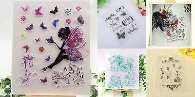 Tampon Scrapbooking Transparent Cachet Silicone Stamp Gommette Carte Noël DIY