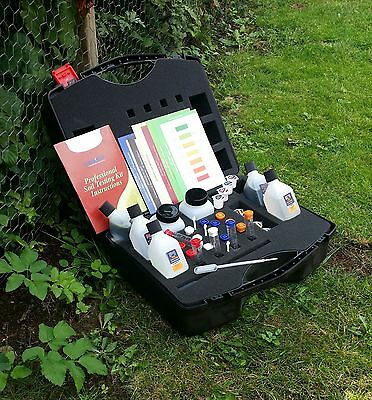 Professional Soil Testing Kit,pH. N.P.K 350 test. Farmers, Grower & Schools