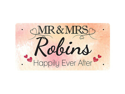 WP_VAL_802 MR & MRS Robins - Happily Ever After - Metal Wall Plate