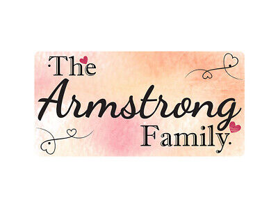 WP_FAM_027 The Armstrong Family - Metal Wall Plate