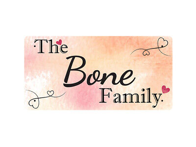 WP_FAM_130 The Bone Family - Metal Wall Plate