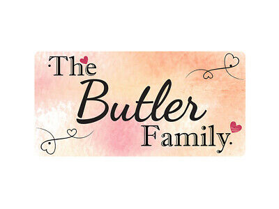 WP_FAM_182 The Butler Family - Metal Wall Plate