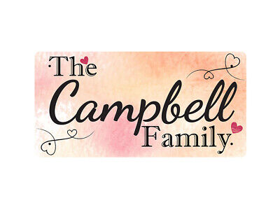 WP_FAM_190 The Campbell Family - Metal Wall Plate