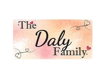 WP_FAM_271 The Daly Family - Metal Wall Plate