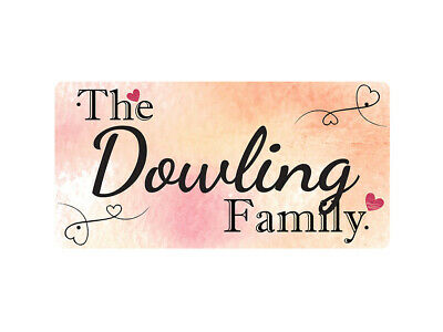 WP_FAM_304 The Dowling Family - Metal Wall Plate