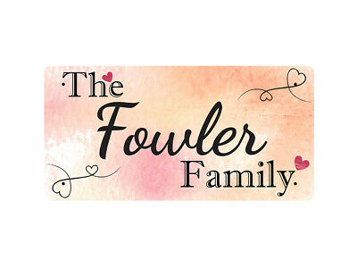 WP_FAM_354 The Fowler Family - Metal Wall Plate